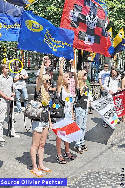 2011. - FEMEN protiv Bjelorusije sa transparenntom UNA-UNSO