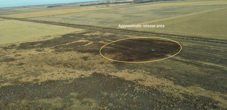 Zagađeno područje nakon što je prošle godine je iz Keystone cjevovoda procurio 9.700 barela
